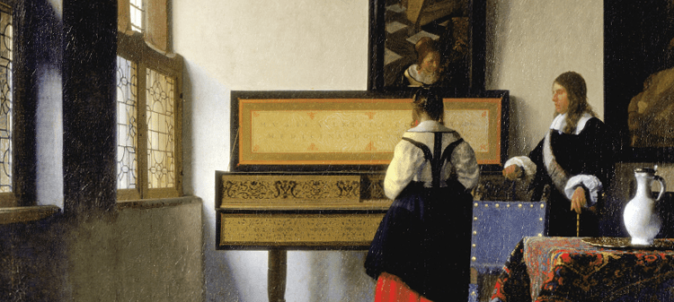 Johannes Vermeer, The Music Lesson, 1665. Royal Collection, Great Britain