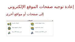 إعادة توجيه صفحات الموقع الإلكتروني في السي بانل