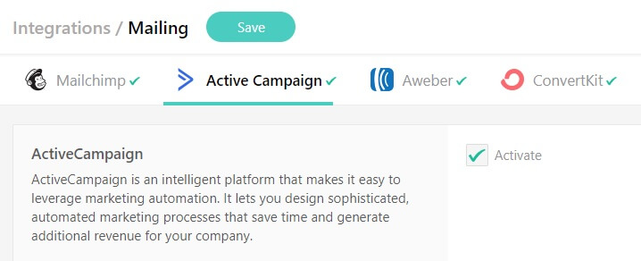 Integrating LearnWorlds with Active Campaign