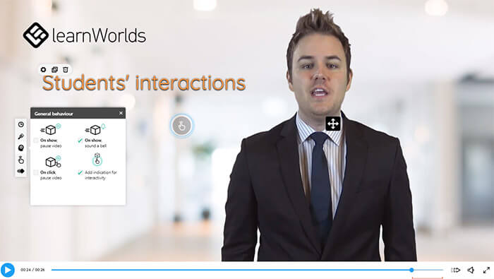 A discreet indication of interactivity shows viewers where they can interact. Imagine how this can lift up your video!
