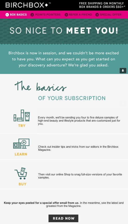 Birchbox email example