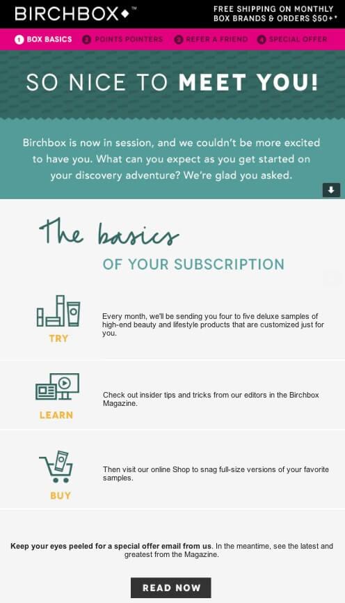 Birchbox email example
