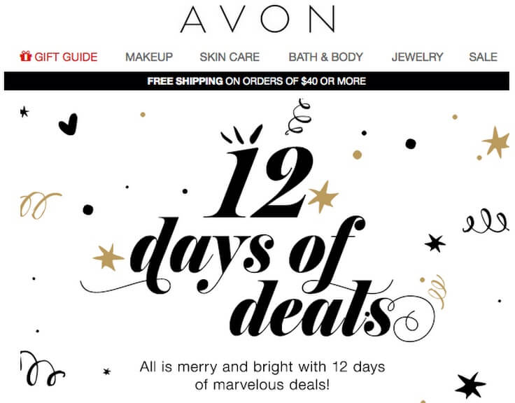 12 days of Deal by Avon