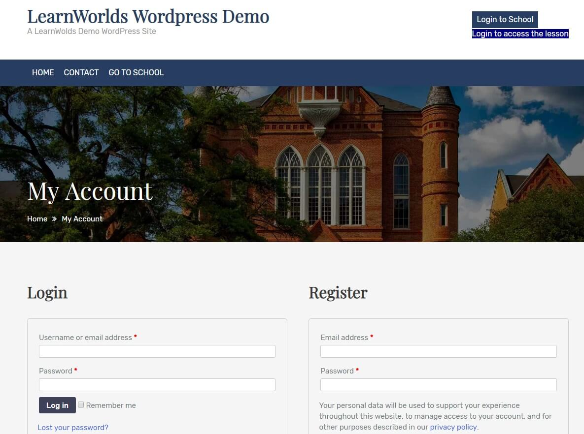 Wordpress SSO examples with LearnWorlds