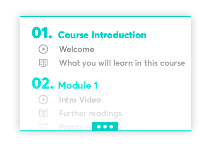 Course Outline for professional training courses