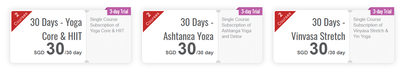 A screenshot showing the website of a LearnWorlds yoga school.