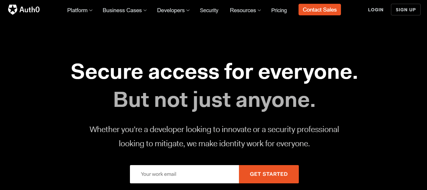 auth0 homepage