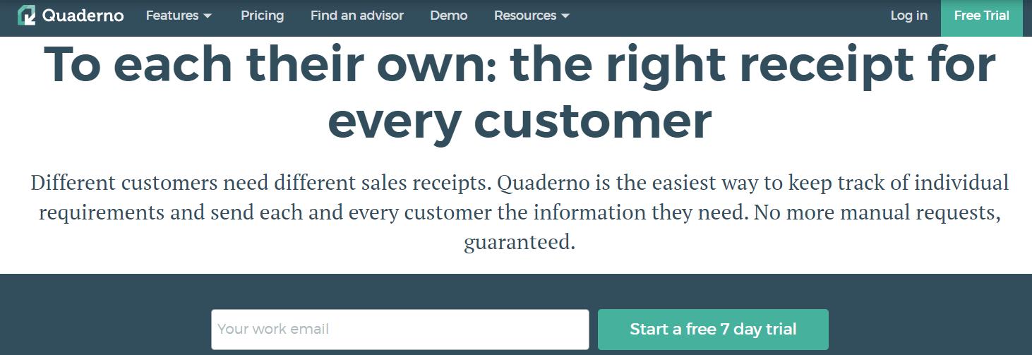Quaderno homepage