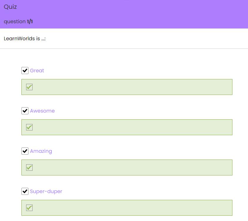 multiple quiz