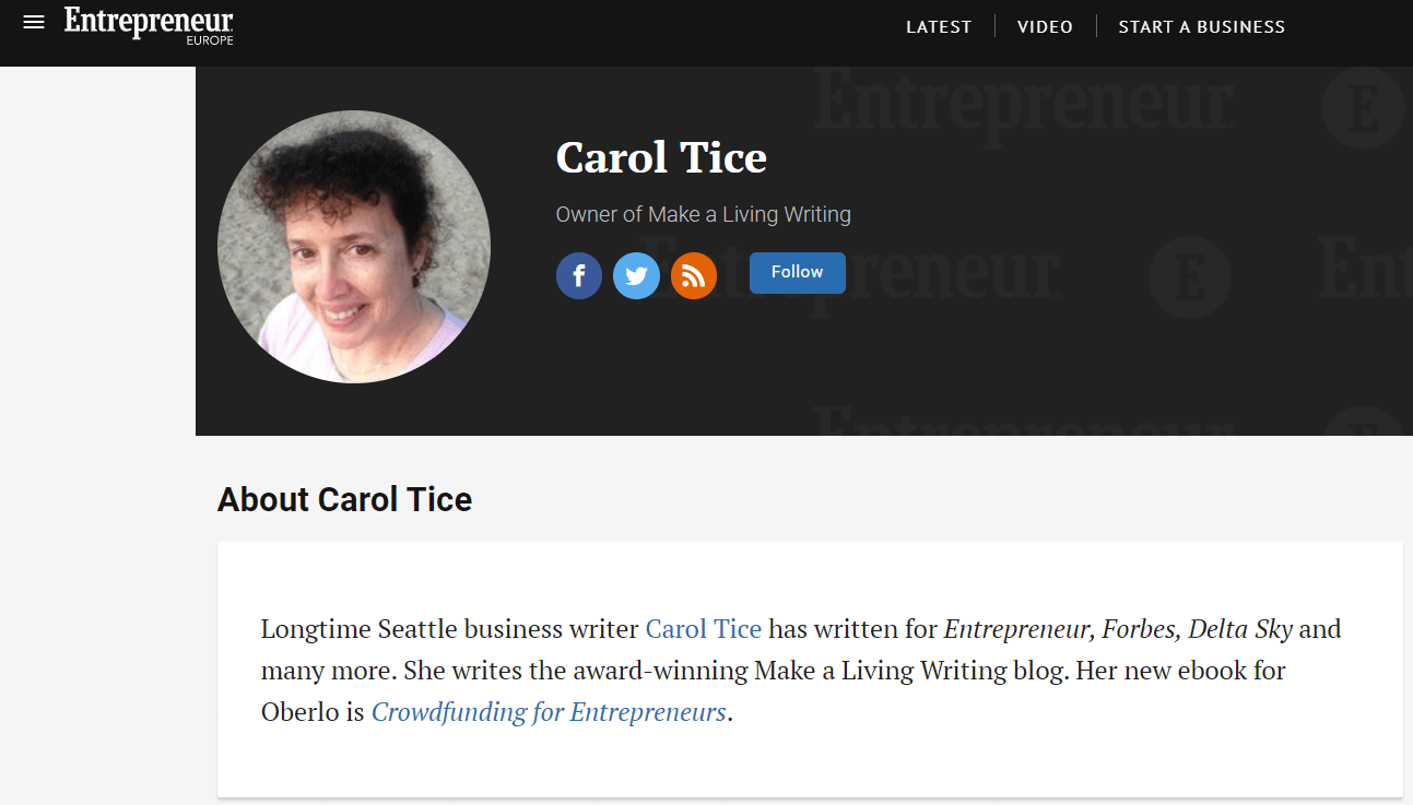 CArol Tice on Entrepreneur.com