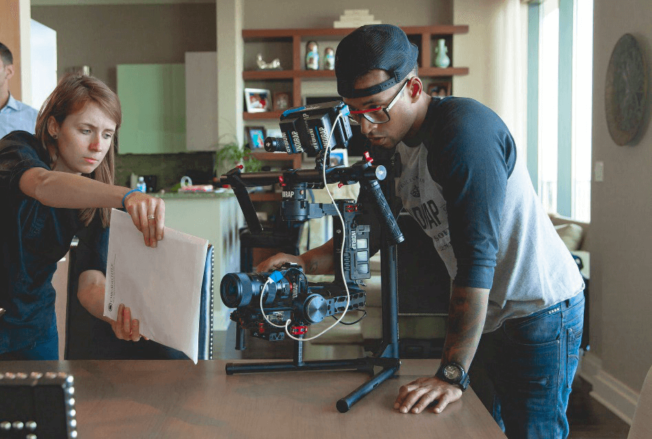 Camera recording for online courses