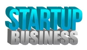 Startup business text