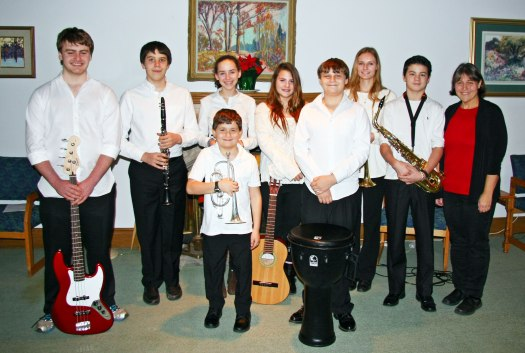 C-Flats Jazz Band with Music Director Cynda Fleming at Leaside United Church Toronto