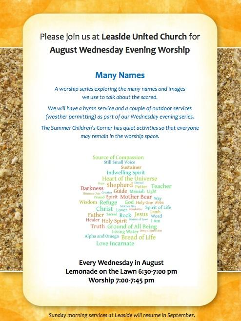 Special Hymn Service Wednesday August 17th