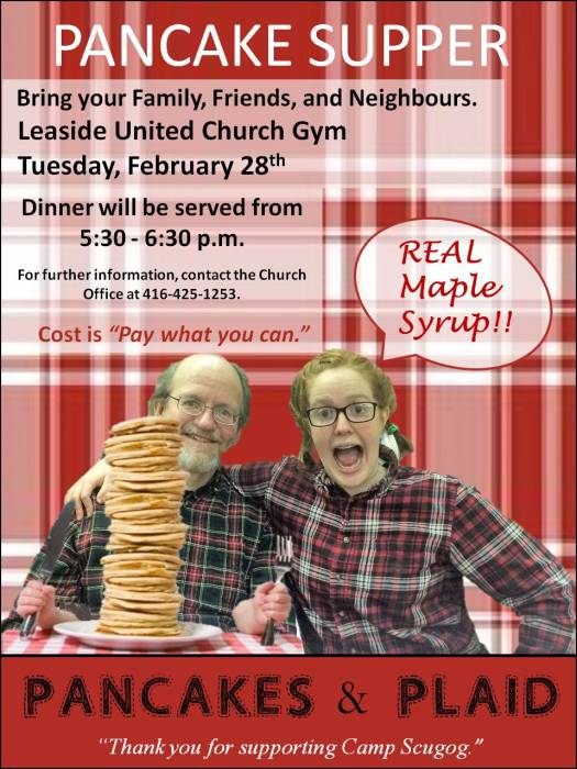 Pancakes & Plaid - Leaside United Church