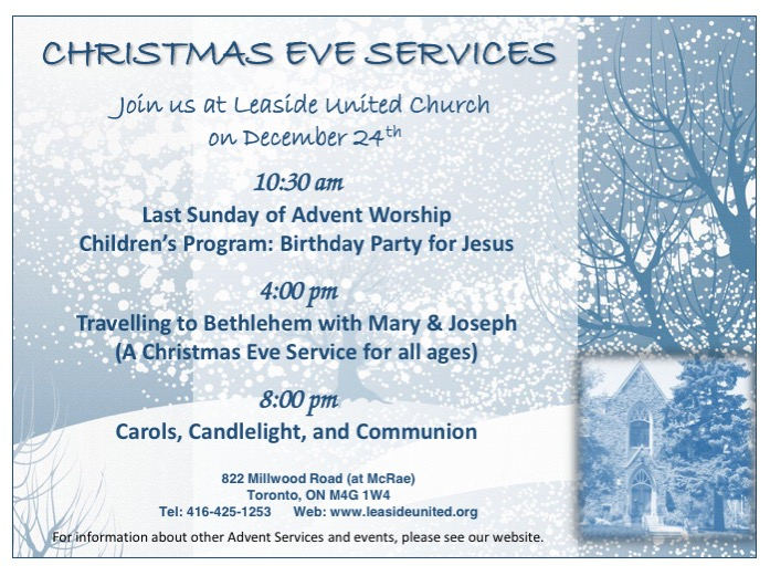 Christmas Eve at Leaside United Church