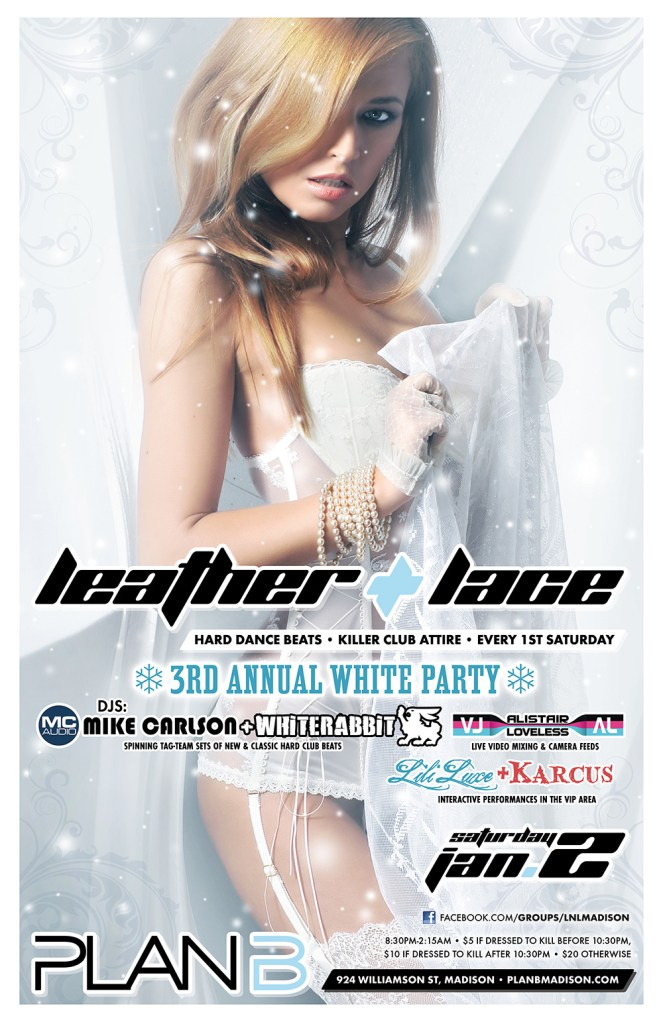 Leather + Lace: 3rd Annual White Party - January 2nd, 2016