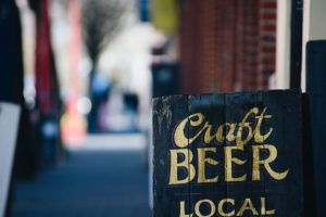 local-craft-beer-advertising-sign-with-golden-lett-WCF48M8