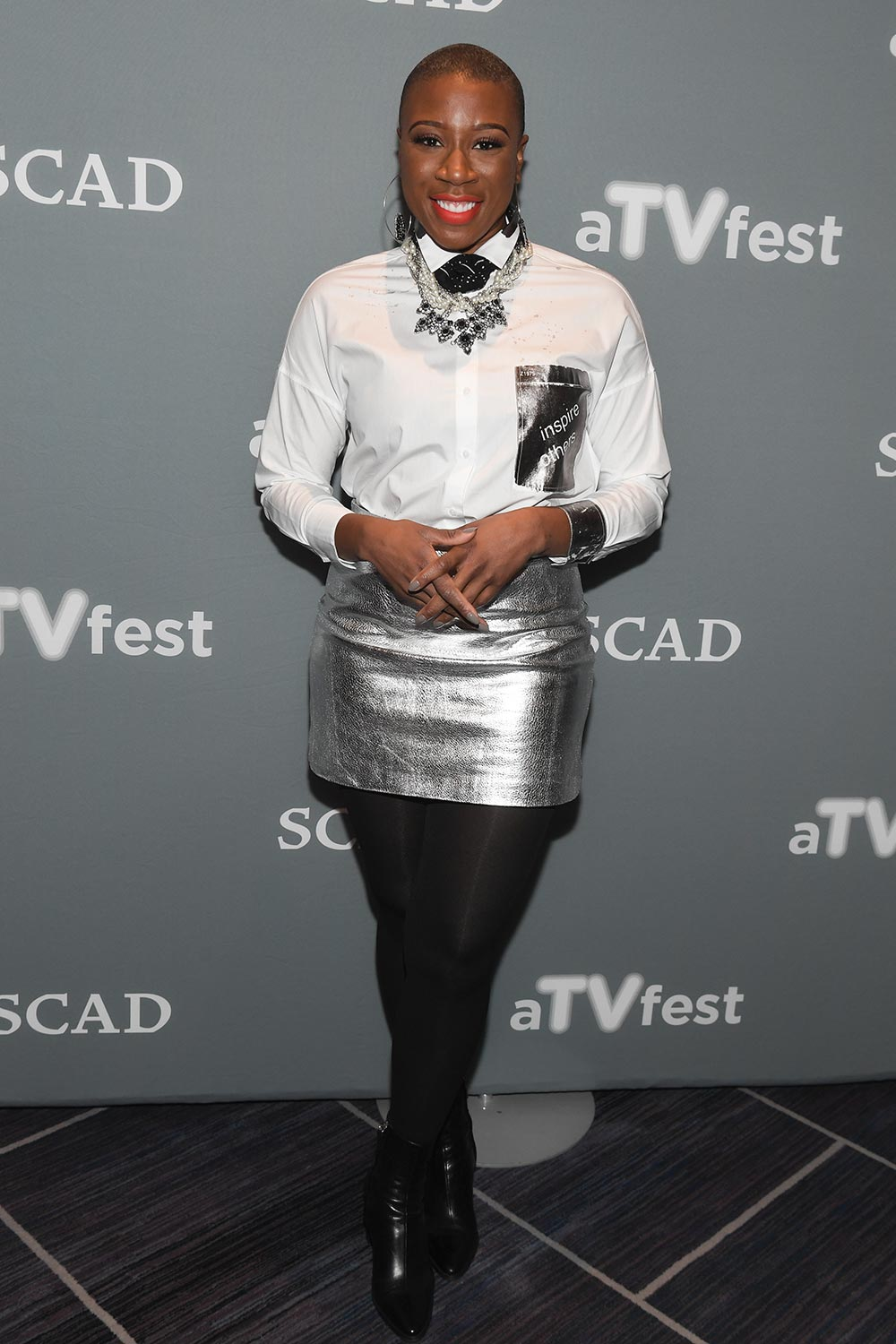 Aisha Hinds Attends 5th Annual Atvfest At Four Seasons