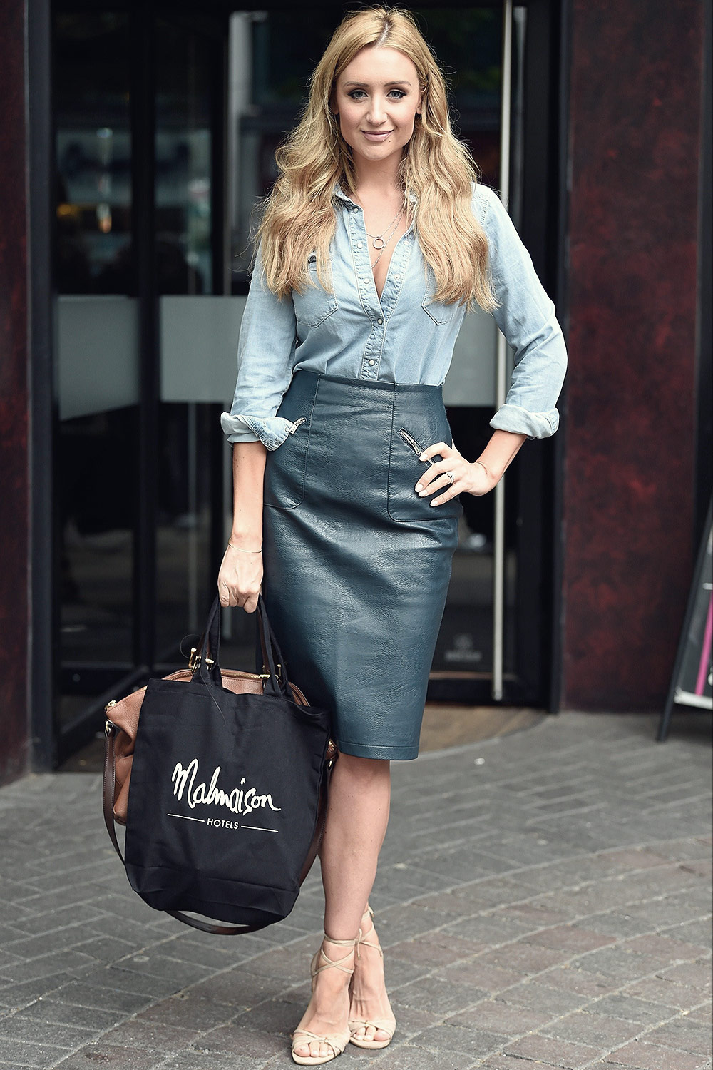 Catherine Tyldesley Seen At Malmaison Hotel Leather