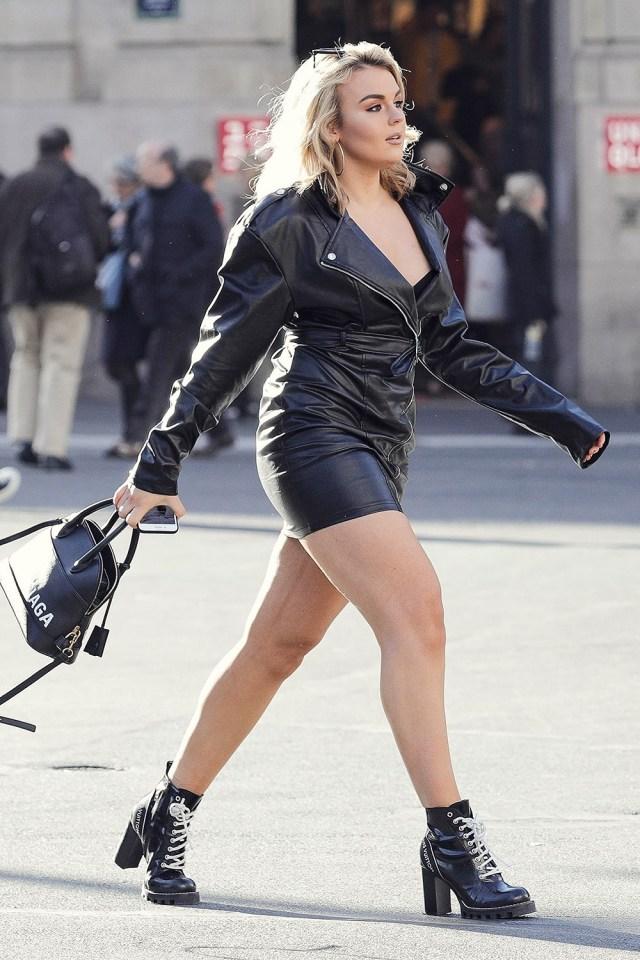 Tallia Storm seen in Paris - Leather Celebrities