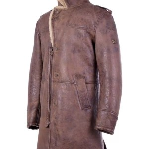 Shearling-Trench-Coat-Men-Black-Leather-Jacket-Side
