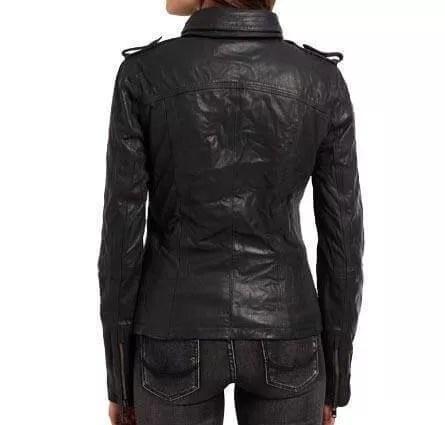 d1dcfc82415e Women Black Classic Winik Leather Jacket - Black Leather Jacket