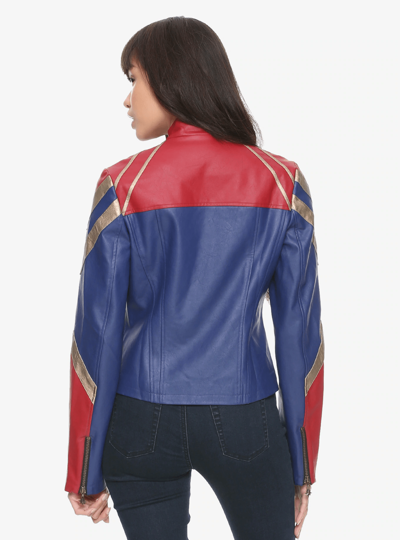 brie larson captain marvel jacket leather costume outfit
