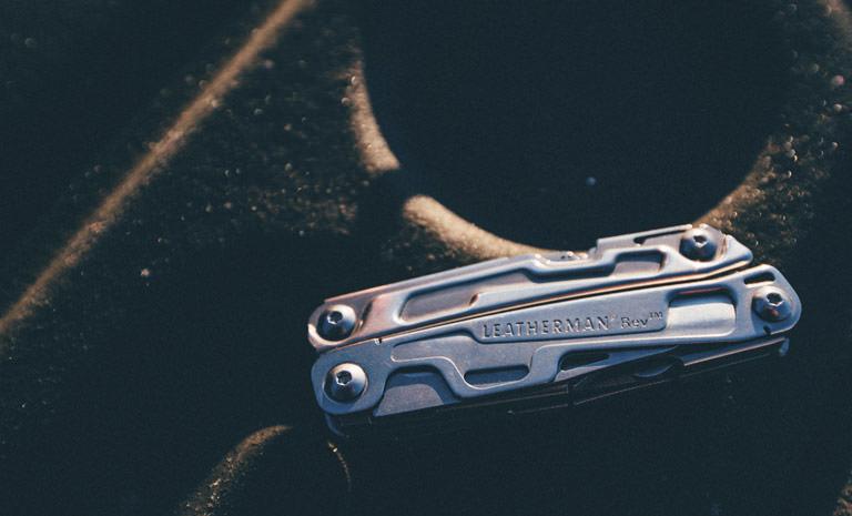Leatherman rev multi-tool closed, stainless steel