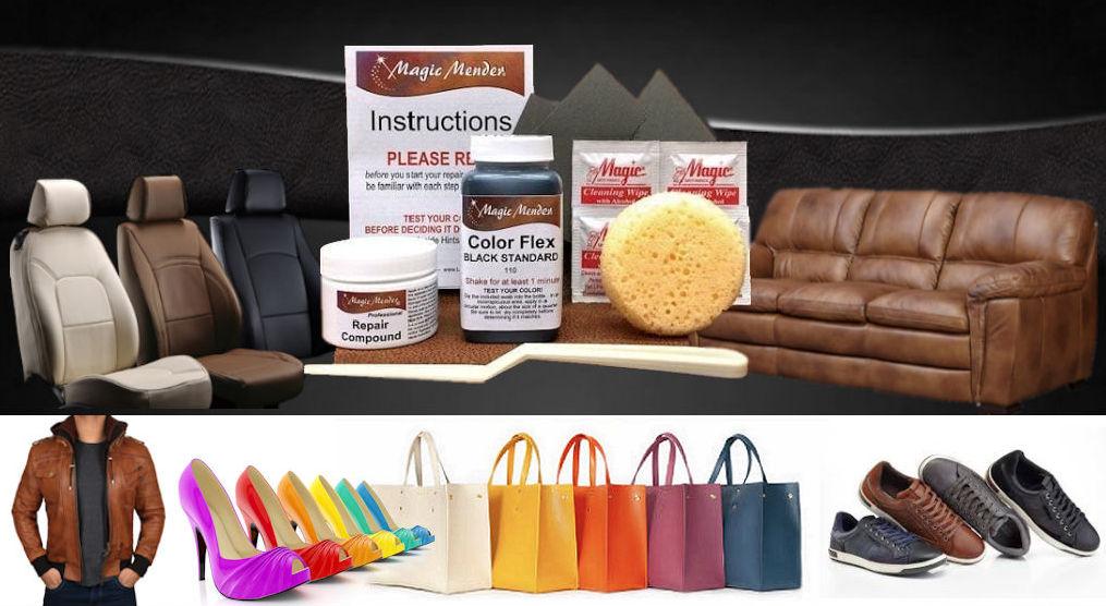 Magic Mender Leather Vinyl Repair Kit For Furniture Autos And More