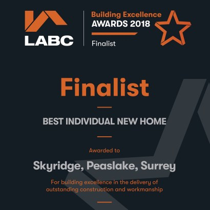 LABC Building Excellence Awards 2018 Regional Finalist