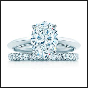 Urutan kedua Cincin kawin termahal : Tiffany Oval Diamond