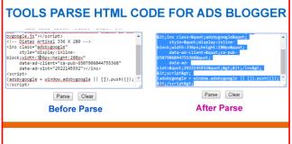 Cara Memasang Alat Parse Kode HTML di Blogspot