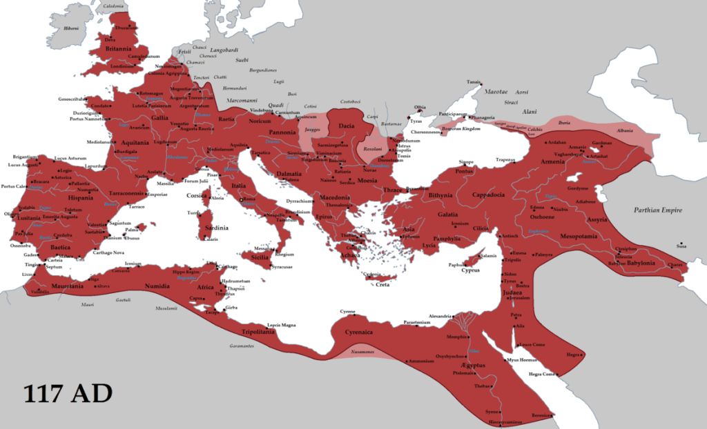 Berytus Nutrix Legum Roman Empire at its greatest extent under Trajan. Source: Wikipedia