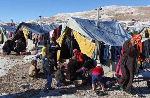Syrian Refugees Living in Tents in Lebanon's Bekaa Valley