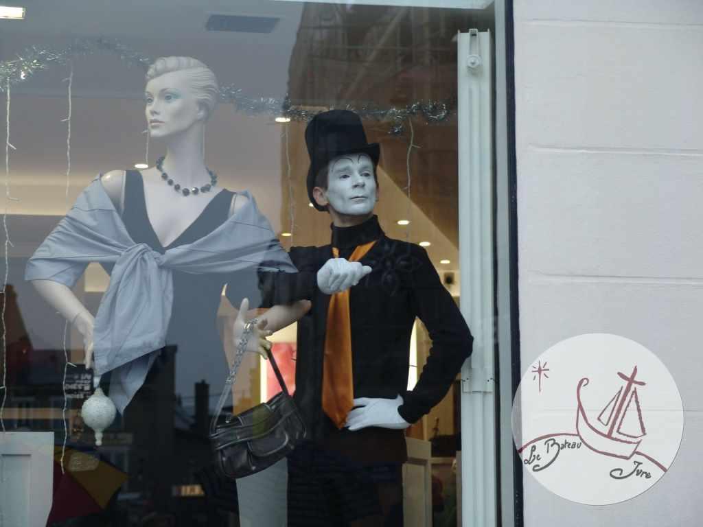 2007 animation Statue Vivante artiste mime Philippe Pillavoine à Pithiviers