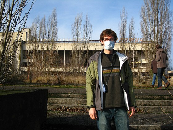 We were required to have masks to get in, but it wasn't necessary to wear them. I wore one now because we were going into the City Administration Building behind me.