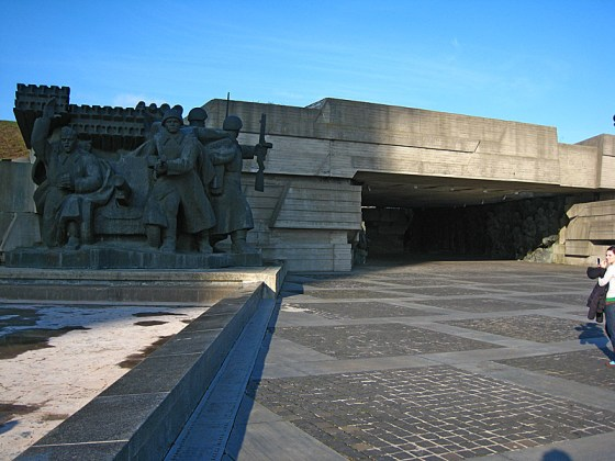 Turning to the right, the park held more amazing statues and a tunnel memorializing WWII.