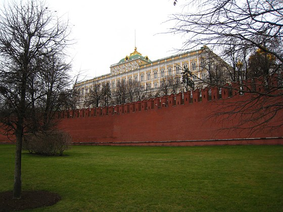 The Kremlin, hiding behind the walls.