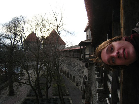 John has this thing where he poses sideways in all his pictures. There are a bunch of old walls and towers here so we got to walk the ramparts of one.
