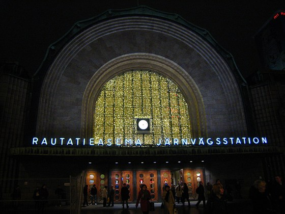 Outside of the central train station