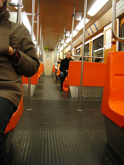 Very clean metro cars. Moscow has nothing on this.