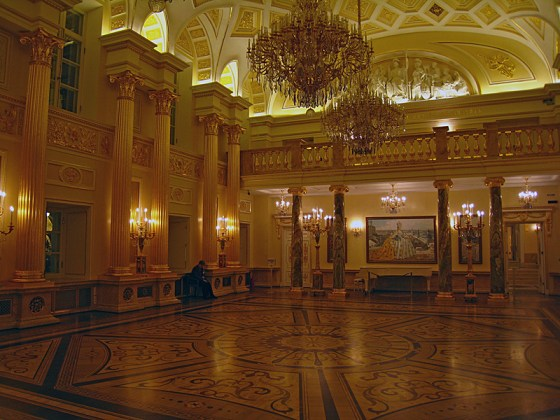 The Gold Room. Every bit as impressive as the one in the Hermitage.
