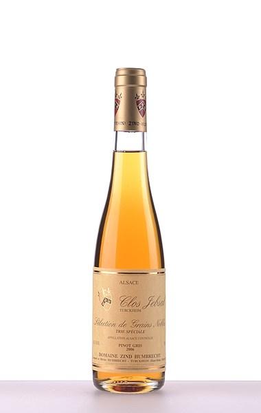 Pinot Gris Clos Jebsal Trie Speciale Sélection de Grains Nobles 2006 375ml