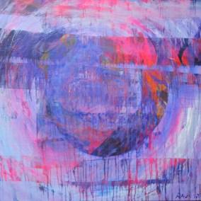 "weltenbilder | 2012 | Acryl auf Leinwand 95x90 cm | ""weltenbilder""©Raphaela C. Näger2012"