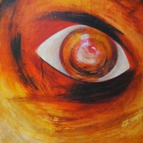 "eyecatcher | 2016 | Acryl auf Leinwand 90x100 cm | ""eyecatcher""©Raphaela C. Näger2016"
