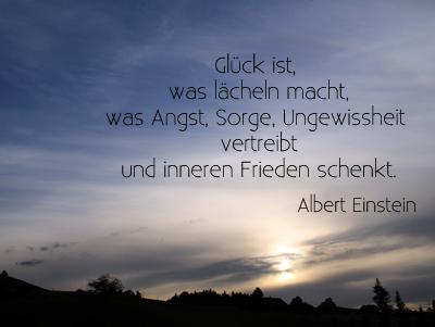 Bild mit Sonnenuntergang und Zitat
