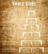Grösse Tisch
