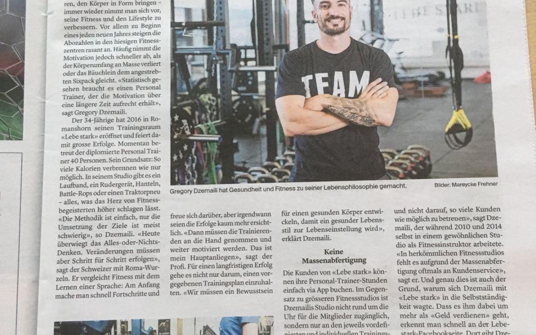 Lebe Stark in der Thurgauer Zeitung