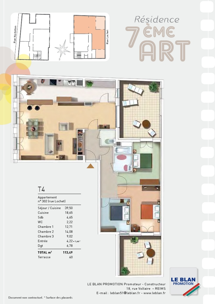 7eme art appartement neuf marne le